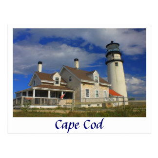 Faro de la montaña, Cape Cod Truro Tarjeta Postal