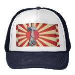 Faro de la onda de Kendama con la bandera de Japón Gorro De Camionero