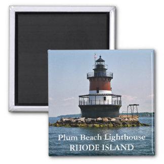 Faro de la playa del ciruelo imán de Rhode Island