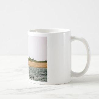 Faro de la playa taza de café