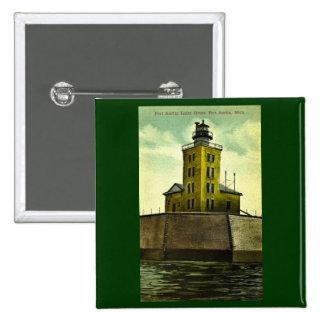 Faro de la postal de AUSTIN MICHIGAN del PUERTO Pin