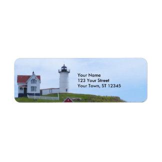 Faro de la protuberancia pequeña - Maine Etiquetas De Remite
