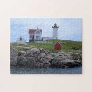 Faro de la protuberancia pequeña - Maine Puzzle Con Fotos