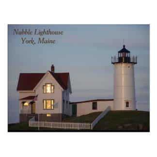 Faro de la protuberancia pequeña, York, Maine Tarjeta Postal