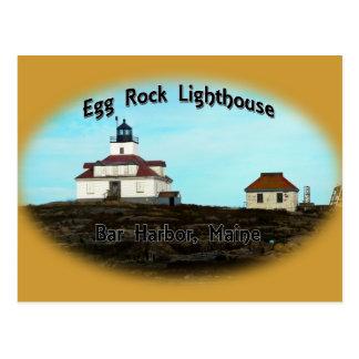 Faro de la roca del huevo tarjeta postal