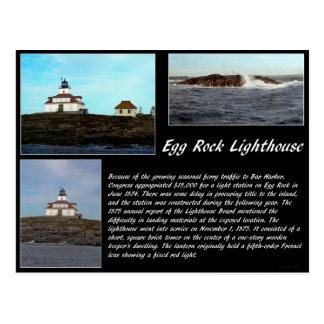 Faro de la roca del huevo postal