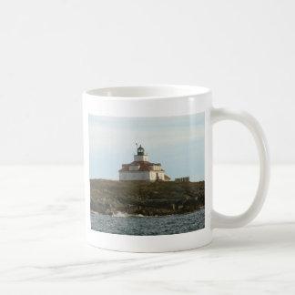 Faro de la roca del huevo tazas de café