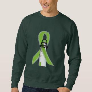 Faro de la verde lima de la esperanza suéter