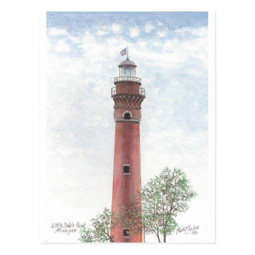 Faro de Ludington Tarjetas Postales