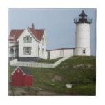 Faro de Maine Azulejo Cuadrado Pequeño