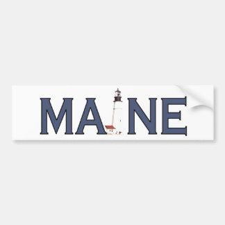 Faro de Maine Etiqueta De Parachoque