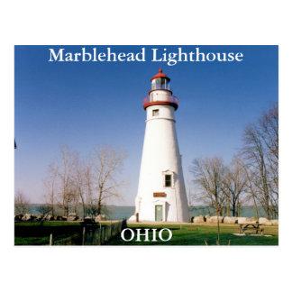 Faro de Marblehead, postal de Ohio