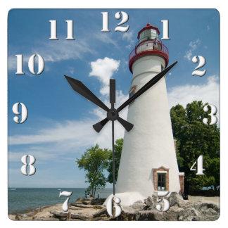 Faro de Marblehead Reloj De Pared