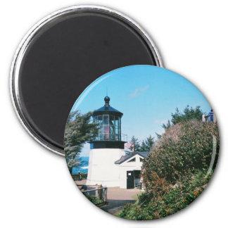 Faro de Meares del cabo, Oregon Imán Redondo 5 Cm