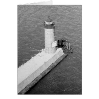 Faro de Milwaukee Pierhead Tarjeta De Felicitación