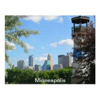 Faro de Minneapolis y de la isla del auge Tarjeta Postal