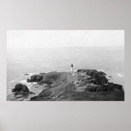Faro de Newport, Oregon Yaquina del golf Impresiones