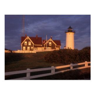 Faro de Nobska, agujero de maderas, Cape Cod Tarjetas Postales