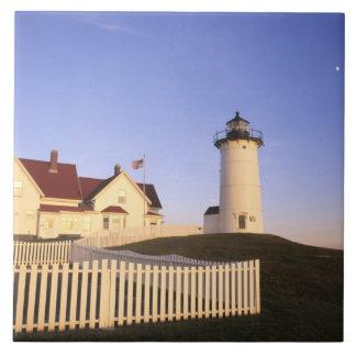 Faro de Nobska, agujero de maderas, Massachusetts Azulejo