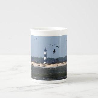 Faro de OBX Taza De Porcelana