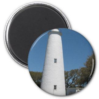 Faro de Ocracoke Imán Redondo 5 Cm