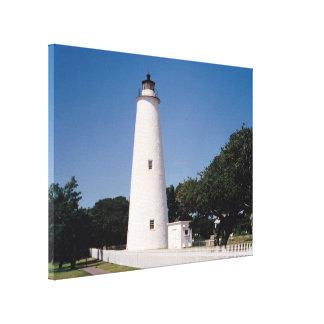 Faro de Ocracoke Lona Envuelta Para Galerias