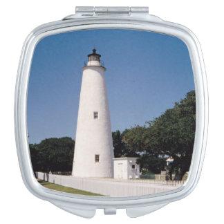 Faro de Ocracoke Espejo De Maquillaje