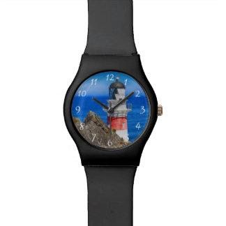 Faro de Palliser Nueva Zelanda del cabo Relojes De Pulsera