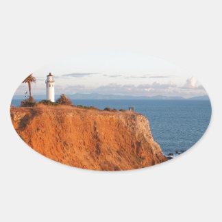 Faro de Palos Verdes Pegatina Ovalada