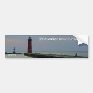 Faro de Pierhead, Kenosha, Wiscons… Pegatina Para Auto