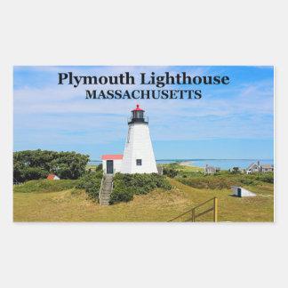 Faro de Plymouth el Gurnet pegatinas del mA Rectangular Altavoces