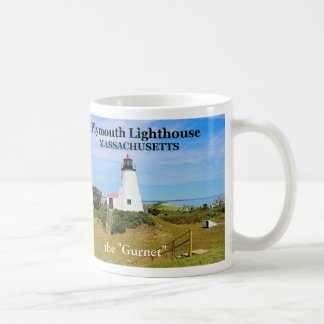Faro de Plymouth el Gurnet taza de Massachusetts