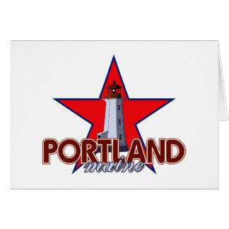 Faro de Portland Felicitacion