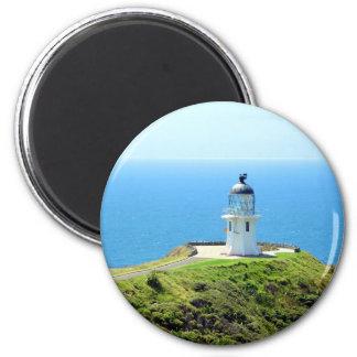 Faro de Reinga del cabo, Nueva Zelanda Imán Redondo 5 Cm