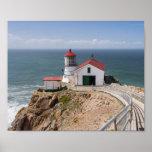 Faro de Reyes del punto, el condado de Marin, Cali Impresiones