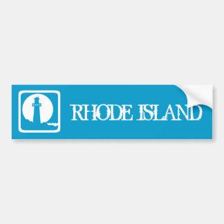 Faro de Rhode Island Etiqueta De Parachoque