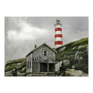 """Faro de Sambro, isla de Sambro, Nueva Escocia Invitación 5"""" X 7"""""""