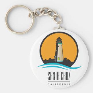 Faro de Santa Cruz California Llavero Redondo Tipo Pin