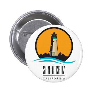 Faro de Santa Cruz California Pin Redondo De 2 Pulgadas