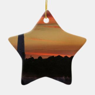 Faro de Santa Cruz de la salida del sol Ornamento De Navidad