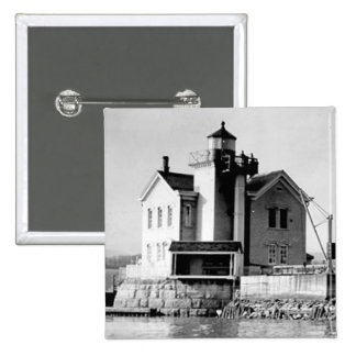 Faro de Saugerties Pin Cuadrada 5 Cm