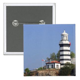 Faro de Sile, Estambul, Turquía Pin Cuadrado
