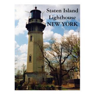 Faro de Staten Island, postal de Nueva York