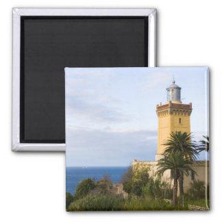 Faro de Tánger Marruecos en el casquillo Spartel Imán Cuadrado