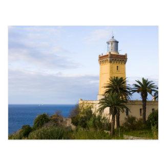 Faro de Tánger Marruecos en el casquillo Spartel Postal