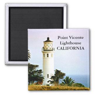 Faro de Vicente del punto imán de California