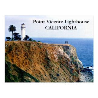 Faro de Vicente del punto, postal de California