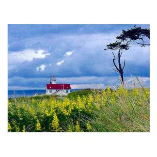 Faro de Wilson del punto, puerto Townsend, Tarjetas Postales