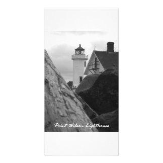 Faro de Wilson del punto Plantilla Para Tarjeta De Foto