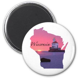 Faro de Wisconsin Imán Redondo 5 Cm